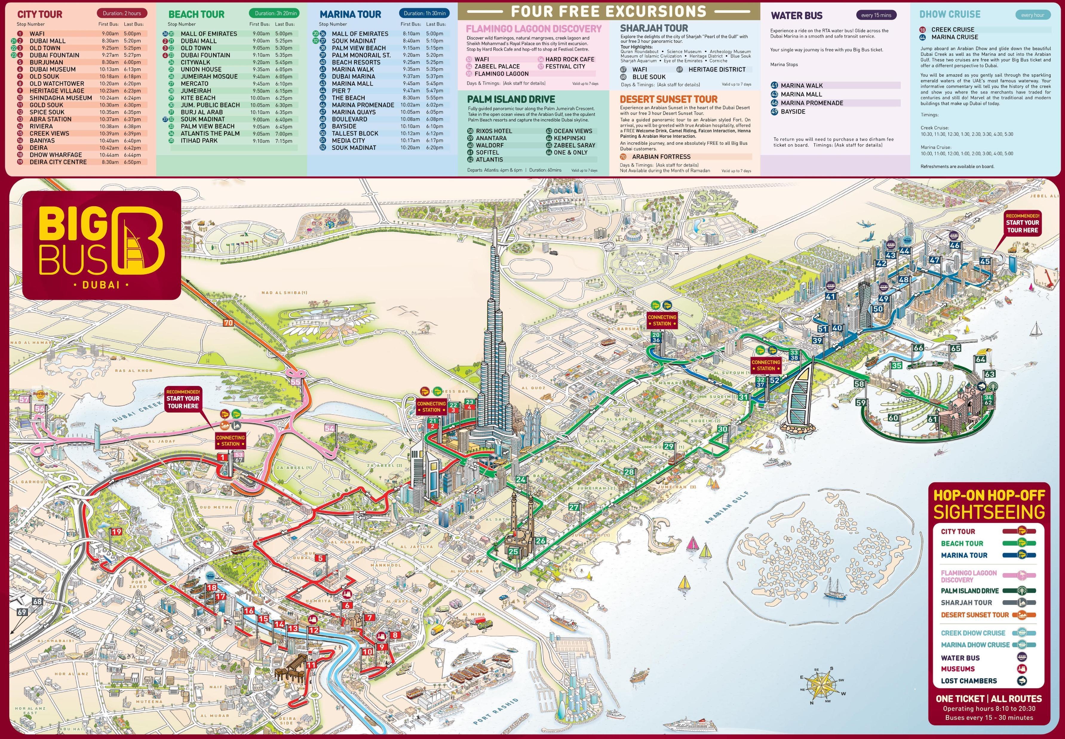 Dubai Cartina Turistica.Dubai Attrazioni Turistiche Mappa Dubai La Mappa Attrazioni