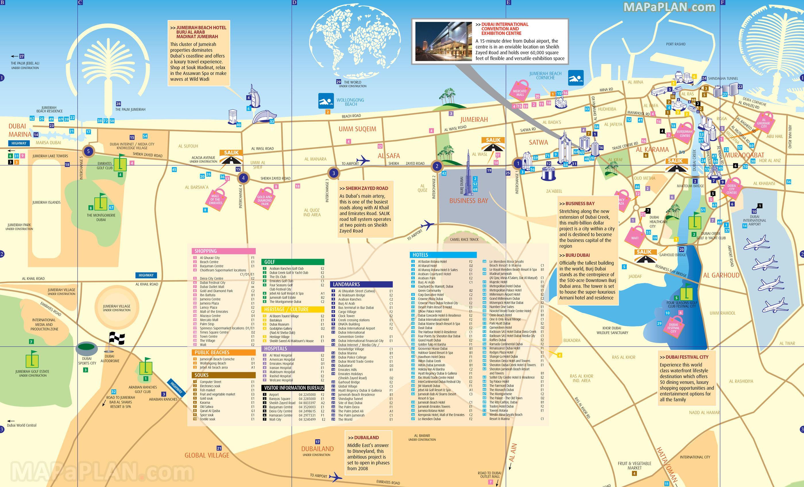 Cartina Turistica Dubai.Dubai Mappa Della Citta Mappa Turistica Di Dubai Emirati Arabi Uniti
