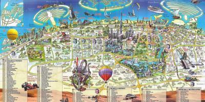 Cartina Mappa Turistica Dubai.Dubai Mappa Mappe Di Dubai Emirati Arabi Uniti